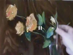 Пишем букет желтых роз. Игорь Сахаров. Ярмарка Мастеров - ручная работа, handmade.
