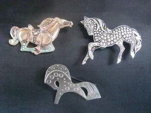 Тройка винтажных брошей-лошадок. Покупайте!Запрягайте! | Ярмарка Мастеров - ручная работа, handmade