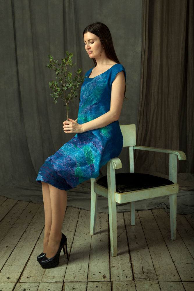 юбка из войлока, цельноваляный рукав, светлана мельникова, валяная одежда