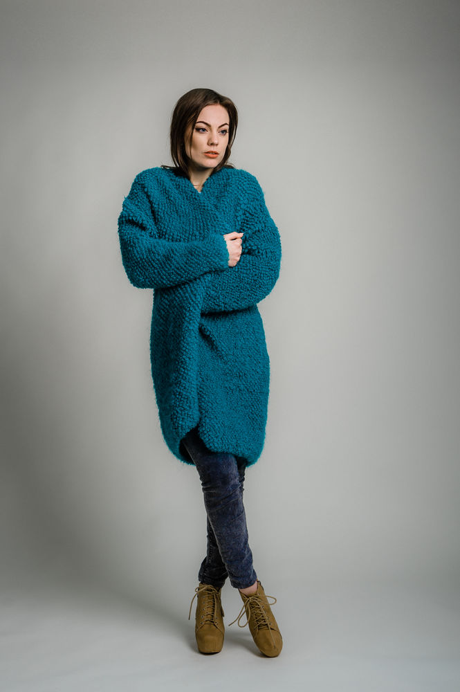 купить кардиган, заказать пальто, голубой, подарок девушке, подарок на любой случай