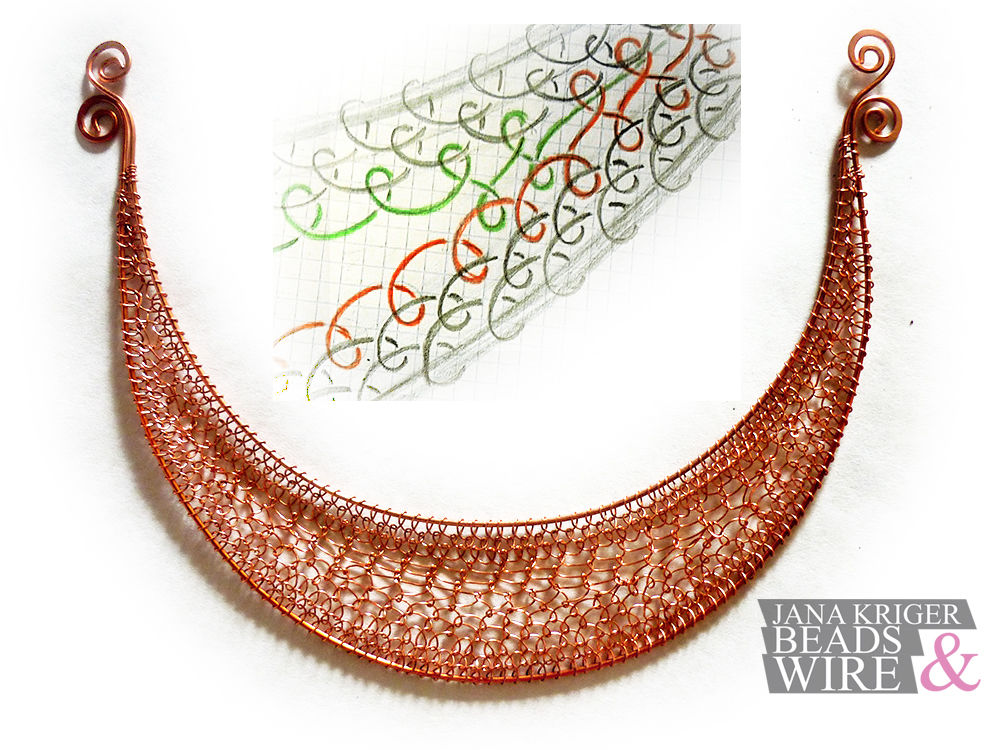 Мои Маленькие Истории Wire Wrap. Часть 3 - Колье., фото № 21