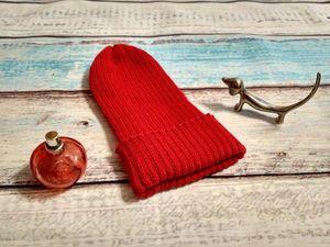Мастер-класс для вязальной машины: шапка бини резинкой. Ярмарка Мастеров - ручная работа, handmade.