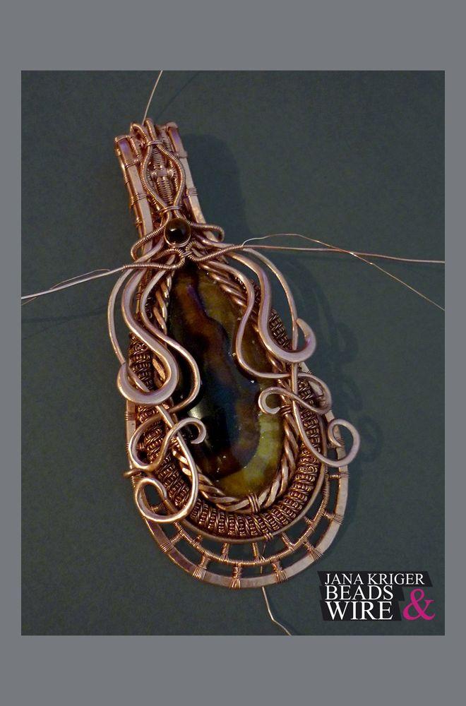 Мои Маленькие Истории Wire Wrap. Часть 3 - Колье., фото № 7
