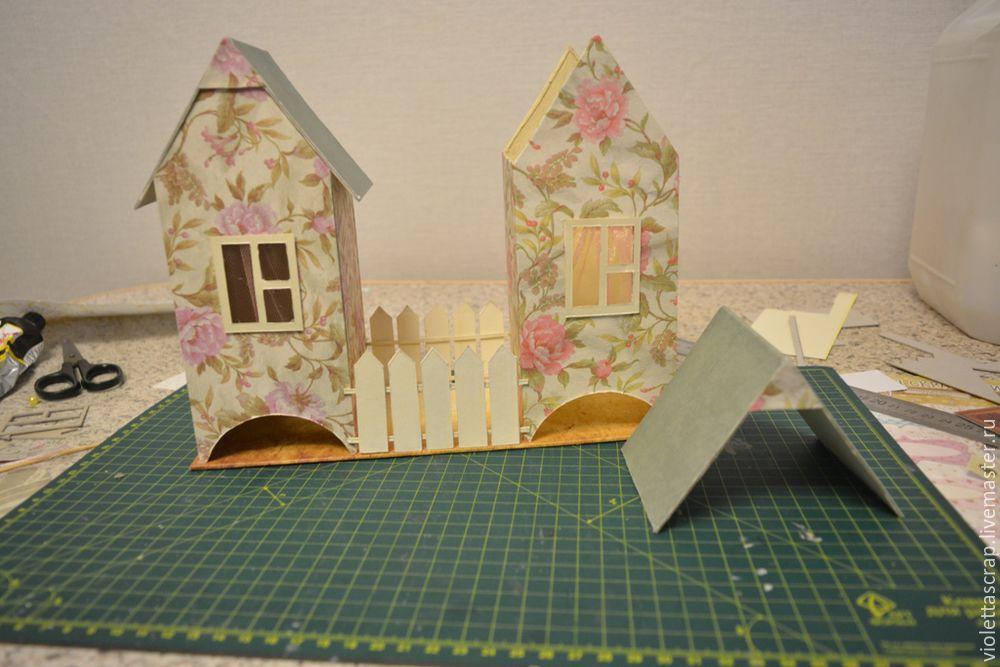 Мастер-класс: изготавливаем дуэт из чайных домиков с конфетницей, фото № 13