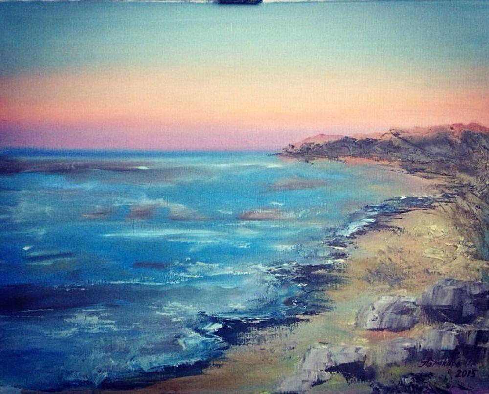 мастер-класс, мастер-класс по живописи, масляная живопись, морской пейзаж