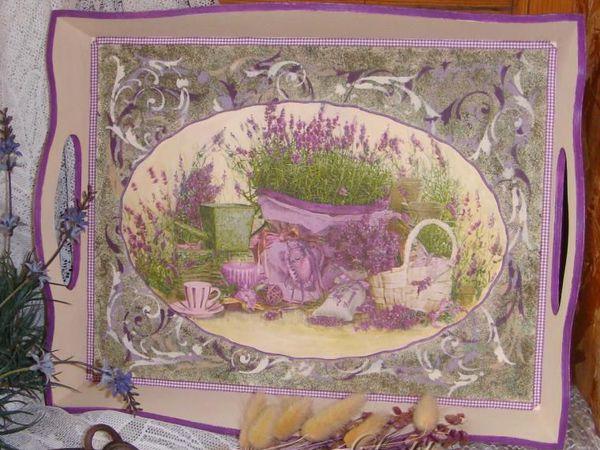 Поднос в стиле Прованс | Ярмарка Мастеров - ручная работа, handmade