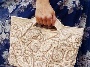Декорируем пляжную сумку вязаными ракушками и морскими звездами | Ярмарка Мастеров - ручная работа, handmade