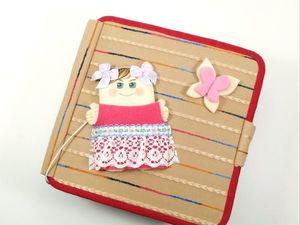 """Развивающая книжка для девочки """"С Днём рождения!"""". Ярмарка Мастеров - ручная работа, handmade."""