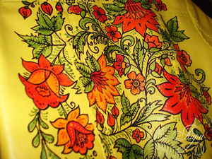 Расписываем куртку в русском стиле. Ярмарка Мастеров - ручная работа, handmade.