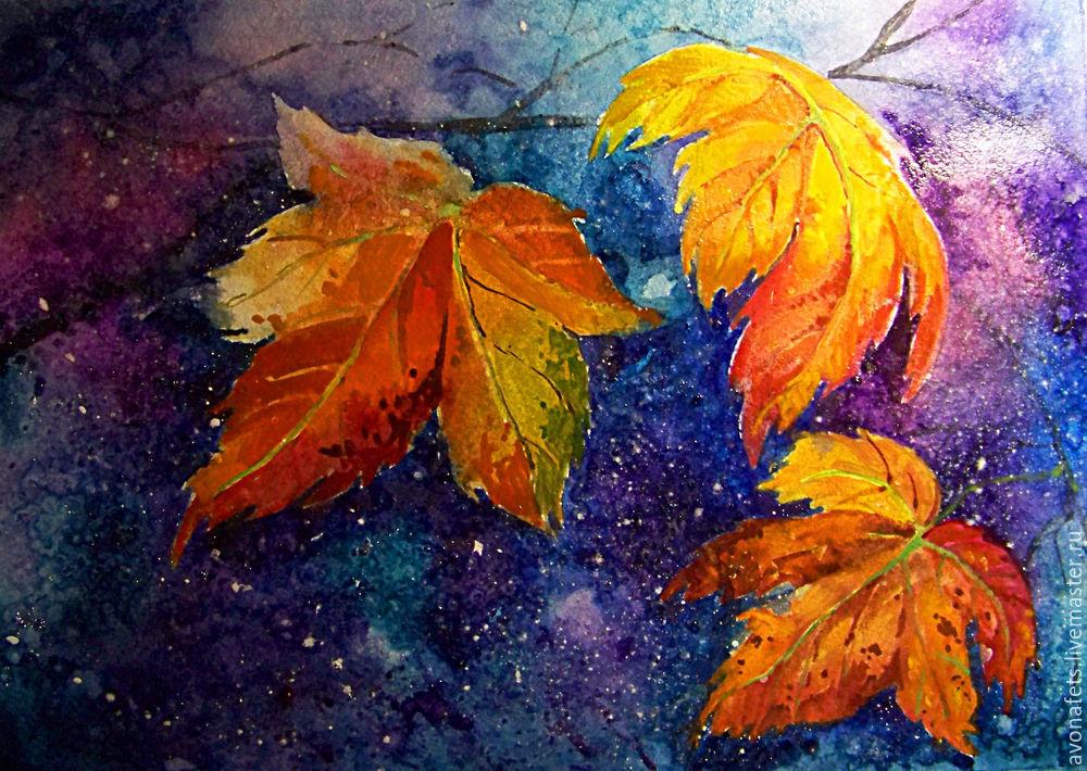 Осенний мастер-класс: акварель по-мокрому, фото № 18