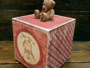 Короб для сладостей с объемной расписной ручкой | Ярмарка Мастеров - ручная работа, handmade