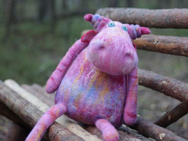 Кто сказал, что корова не может быть розового цвета? | Ярмарка Мастеров - ручная работа, handmade