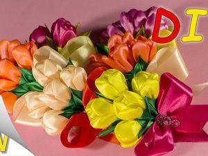 Видео мастер-класс: делаем букет тюльпанов на магните. Ярмарка Мастеров - ручная работа, handmade.