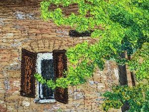 Два месяца вышивки за 40 секунд — итальянский пейзаж. Ярмарка Мастеров - ручная работа, handmade.