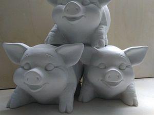 Свинья-копилка. 1 плюс 1 равно 3. Ярмарка Мастеров - ручная работа, handmade.