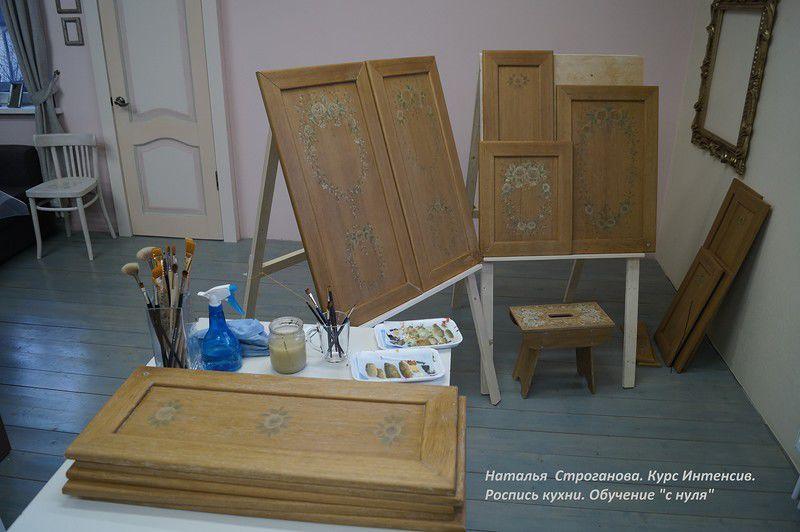 расписная мебель, курсы роспись мебели