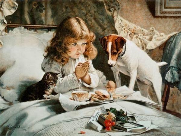 Добрые картины английского художника Charles Burton Barber .... | Ярмарка Мастеров - ручная работа, handmade
