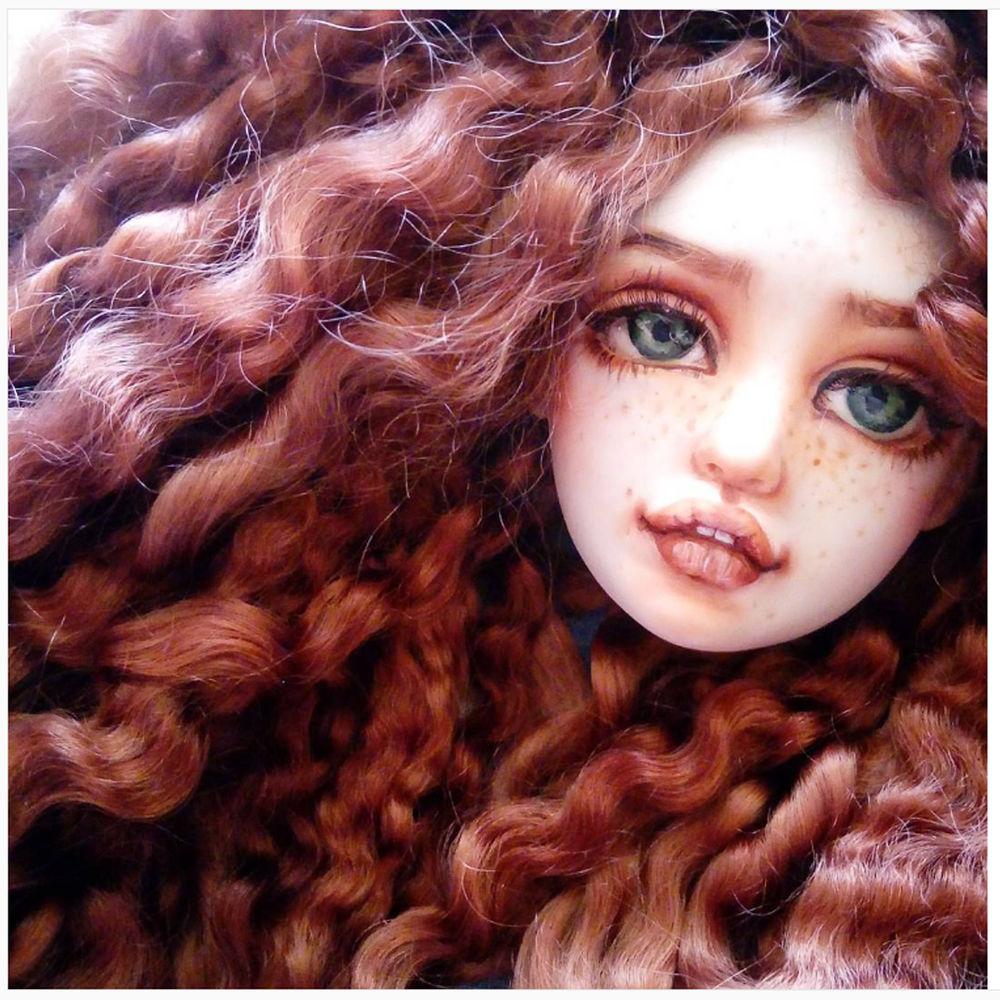 рыжая кукла, кукла на заказ, подарок, подарок женщине, любовь, рыжая