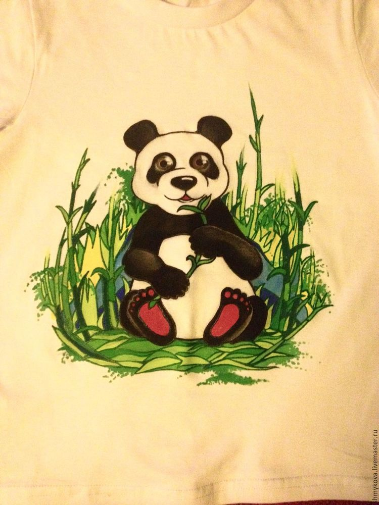 футболка с рисунком, авторская роспись, для детей, скидка 20%, акриловые краски