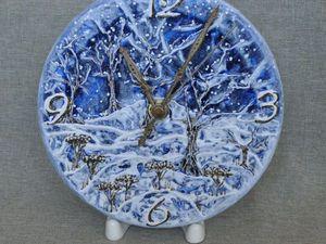 Мастер-класс по декорированию часов «Синяя зима». Ярмарка Мастеров - ручная работа, handmade.