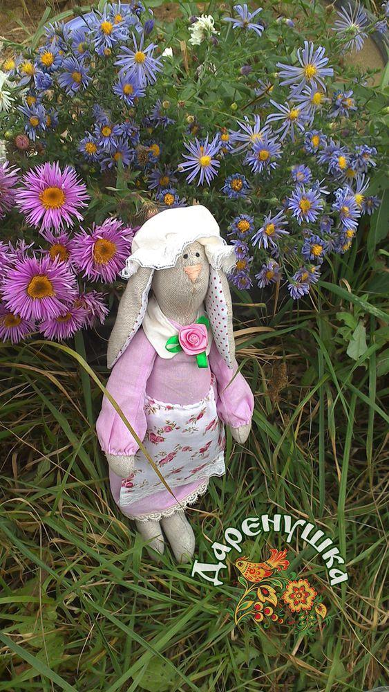 кролик, розы, игрушка ручной работы, дети, бартер