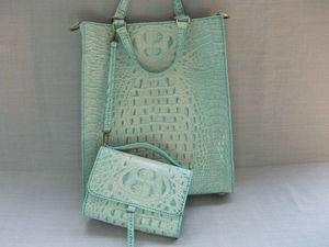 Комплект из 2-х бирюзовых сумочек — больше фото. Ярмарка Мастеров - ручная работа, handmade.