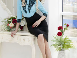 Аукцион на платьице из костюмной ткани с кружевом! Старт 2000 р. !. Ярмарка Мастеров - ручная работа, handmade.