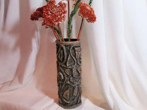 Делаем вазу из бросового материала: видео мастер-класс. Ярмарка Мастеров - ручная работа, handmade.