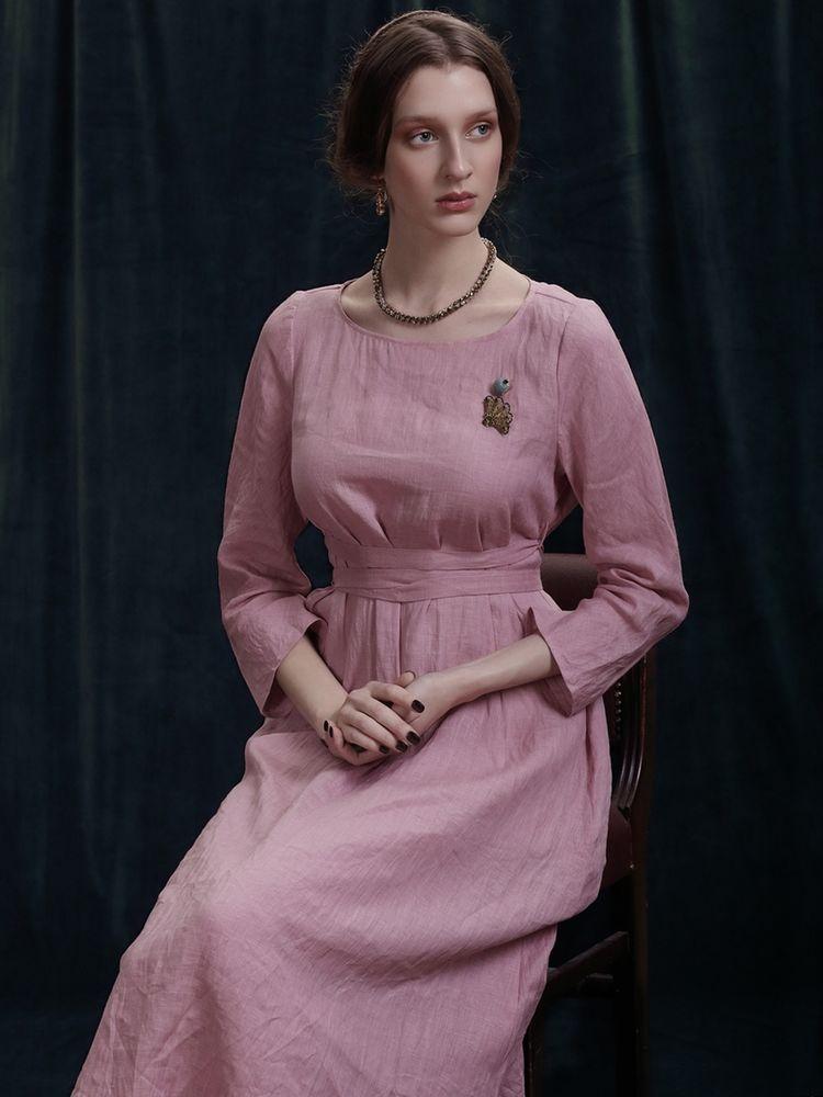 льняное платье, розовый лен, возрождение, пепел розы, журнал о моде, красота простых линий, журнал о дизайне