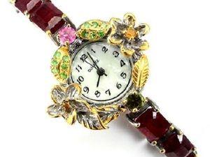 При покупке часов рубиновые серьги в подарок!. Ярмарка Мастеров - ручная работа, handmade.