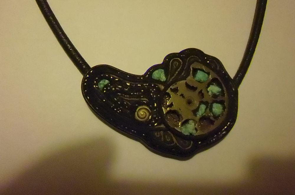 украшение, колье с аммонитом, индийский огурец