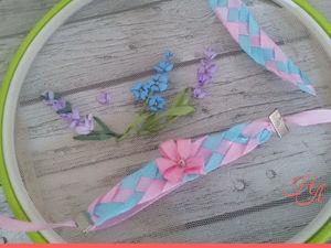 Как сплести браслет из лент для маленькой принцессы. Ярмарка Мастеров - ручная работа, handmade.