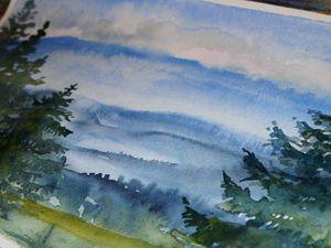 Видео мастер-класс: пишем горный пейзаж акварелью. Ярмарка Мастеров - ручная работа, handmade.
