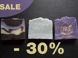 Скидка на все натуральное мыло с лавандой – 30%!. Ярмарка Мастеров - ручная работа, handmade.