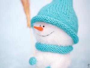 Knitting a Cute Snowman. Livemaster - handmade