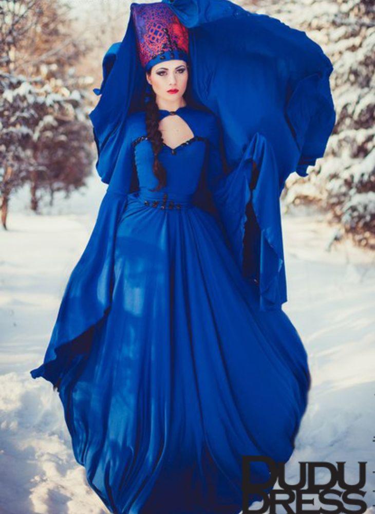 платье хюррем, синее платье