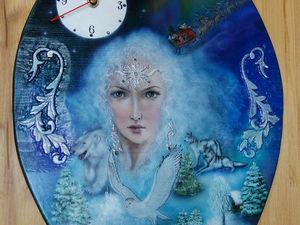 Мастерим часы «Королева зима». Ярмарка Мастеров - ручная работа, handmade.