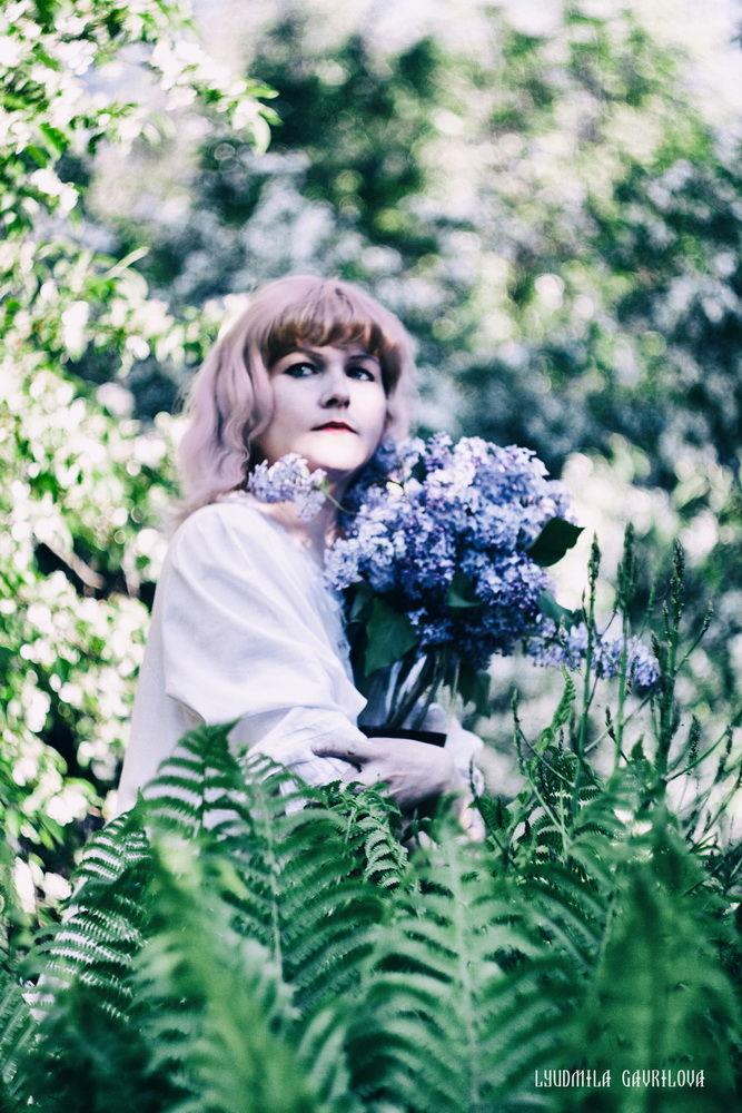 фотосессия, цветы, сирень, весна