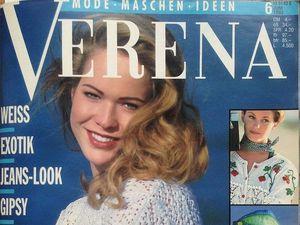 Verena №6/1993. Содержание.. Ярмарка Мастеров - ручная работа, handmade.