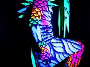 Светящийся костюм для шоу, ручная роспись. Ярмарка Мастеров - ручная работа, handmade.