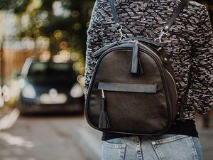 Женский городской рюкзак из натуральной кожи. Ярмарка Мастеров - ручная работа, handmade.