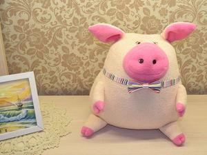 Подушка-игрушка Поросенок. Ярмарка Мастеров - ручная работа, handmade.