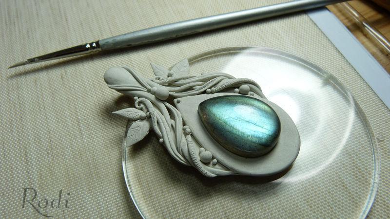 металлическая глина, ювелирное искусство, кабошон