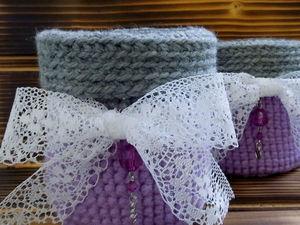 Вязаные корзинки шерстяные. Ярмарка Мастеров - ручная работа, handmade.