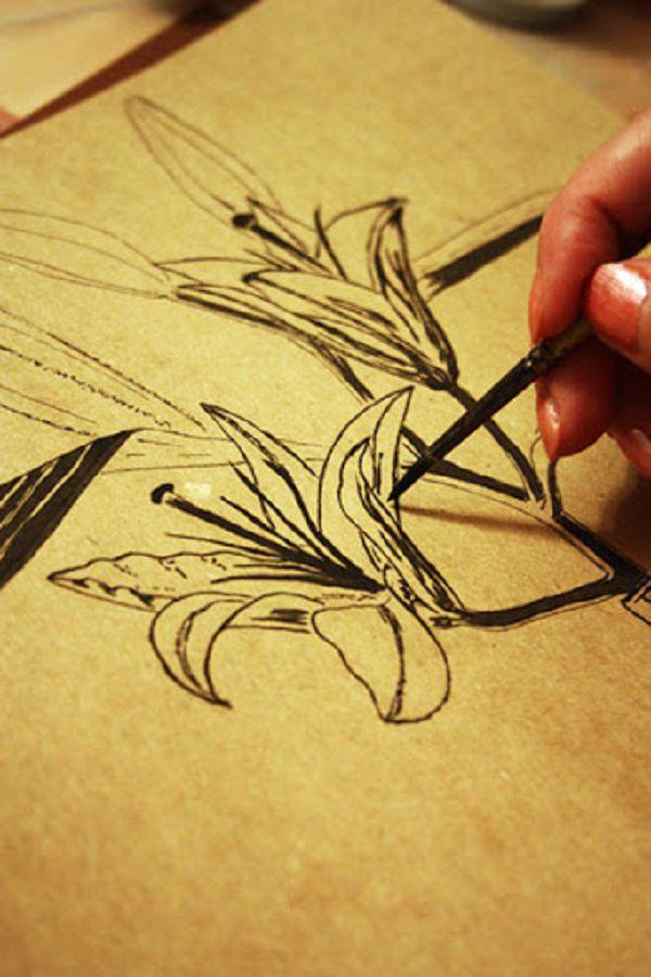 графика, живопись акрилом