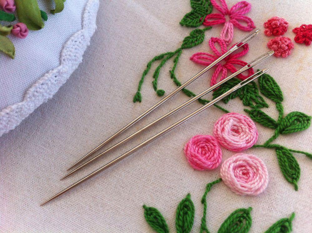 распродажа, инструменты, иглы, вышивка, вышивка лентами, объемная вышивка, розы, розы из лент, ди ван никерк, бразильская вышивка, вышивка ручная