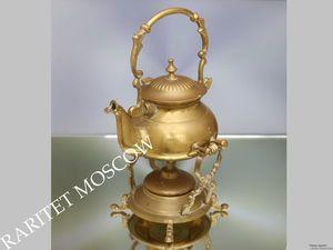 Бульотка чайник бронза латунь серебрение Англия 2. Ярмарка Мастеров - ручная работа, handmade.