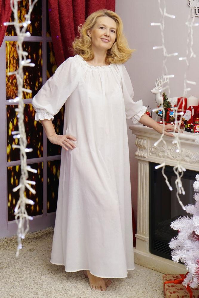 сорочка из батиста, ночнушка, белая рубашка