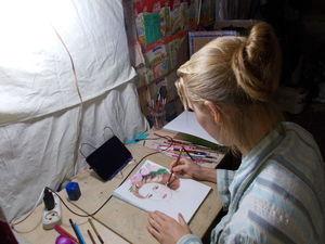 Рисует Надя. Ярмарка Мастеров - ручная работа, handmade.