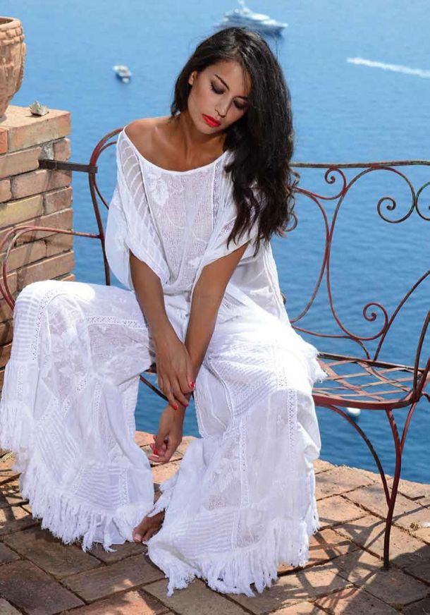 Белое бохо, или Шикарная одежда для королевы летнего пляжа, фото № 103